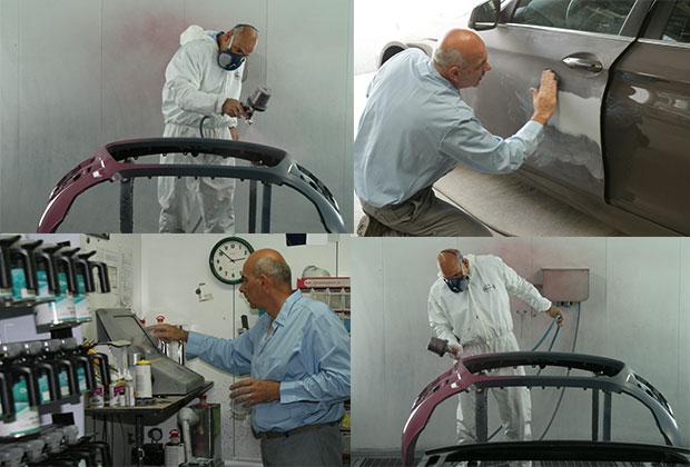 Atelier de peinture par la carrosserie rabatel à saint marcellin, chatte et vinay